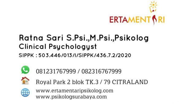 ratna sari psikolog - kartu nama